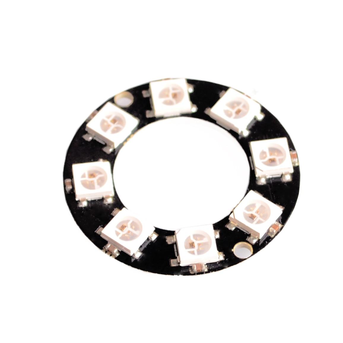 8 Bits 8 X WS2812 5050 RGB LED lámpara de anillo luz con Drivers integrados