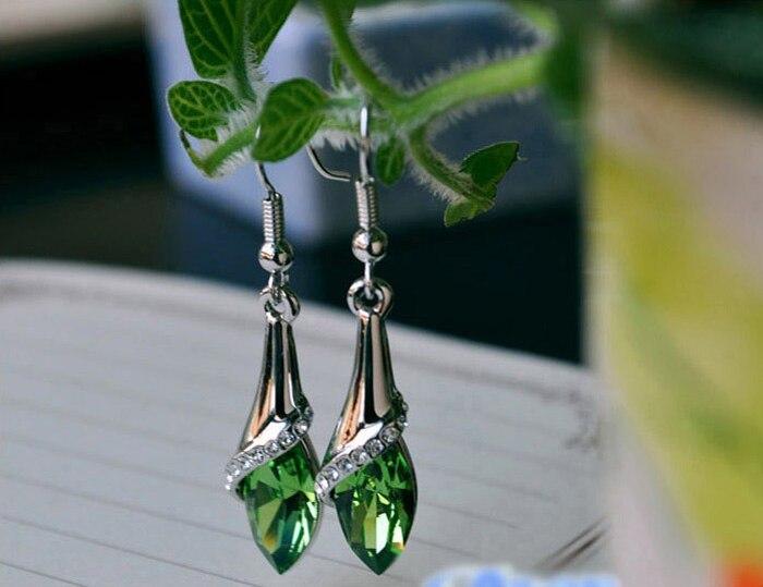 Women Jewelry Earrings Marquise-Cut Teardrop Crystal Wedding Girl Fashion Joyeria 1-Pair