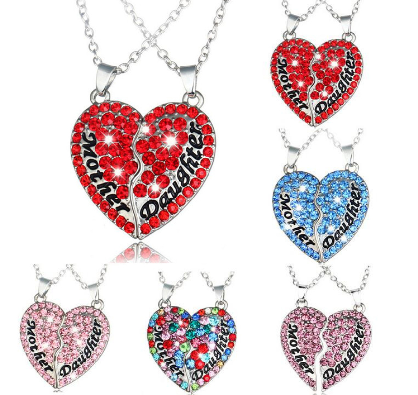 Gift Alloy HOT Clavicle Crystal Heart-Shaped 2016 Pendant Chain Jewelry Necklace NEW Fashion