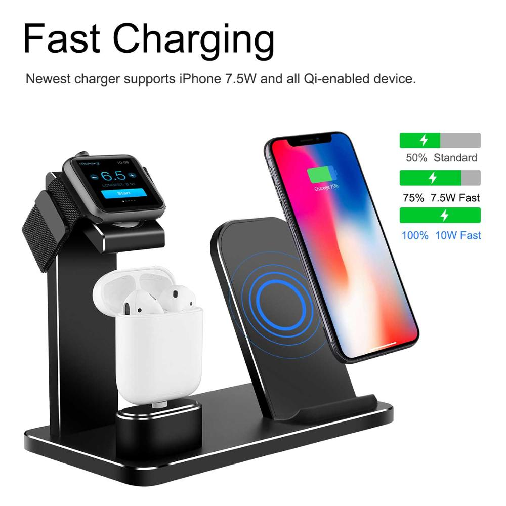 XUNMEJ Charging Stand for Apple Watch Stand Aluminum Watch Charging Dock Bracket Phone Stand Replacement for Apple Watch SeriesXUNMEJ Charging Stand for Apple Watch Stand Aluminum Watch Charging Dock Bracket Phone Stand Replacement for Apple Watch Series
