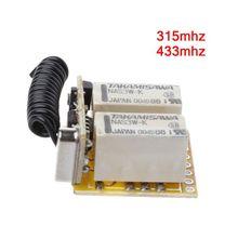 Interruptor remoto de relé, 2CH, DC3.7V, 4,2 V, 5V, 6V, 7,4 V, 8,4 V, 9V, 12V de salida, 0V, valor de conmutación de contacto seco, NO COM NC, 315MHz, 433MHz