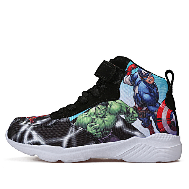 2019 Kids Sneakers For Boys Basketball Shoes Running The Avengers Baby Casual Children shoes Sport boot Cartoon gamin chaussure 1