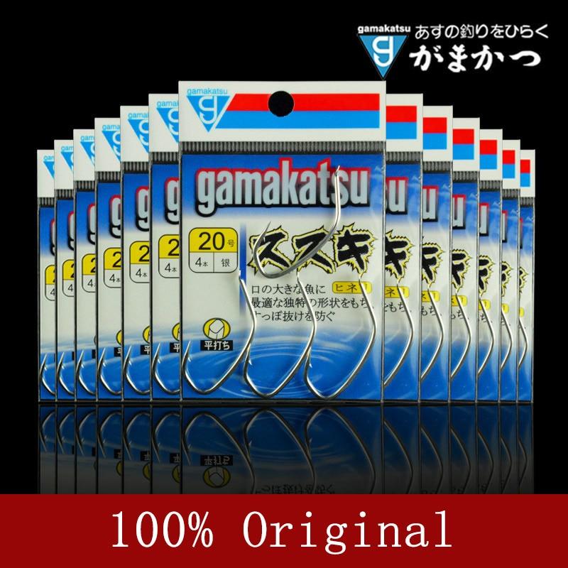 100% Original Japan Gamakatsu Fishing Hooks CISZO Bass Hook Unique Hook Type 15#-20# Size Barbed Hooks Silver Color Hidden Hook