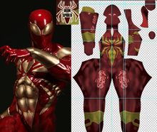 MovieCoser Best Quality Iron Spider Costume Ironspider Cosplay Costume Red Spiderman Suit