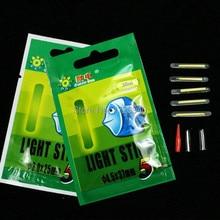 Free Shipping 25pcs or 50Pcs Fishing Night Fluorescent Light Float Glow Stick Lightstick 4.5*37mm and 3.0*25mm