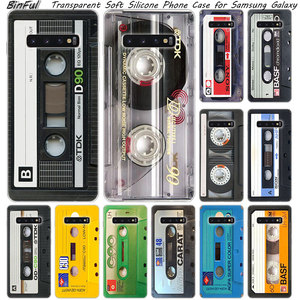Hot Classical Old Cassette tape Soft Silicone Case For Samsung Galaxy S10 S9 S8 Plus S7 Edge A6 A8 Plus A7 A9 2018 A5 2017 Cover(China)