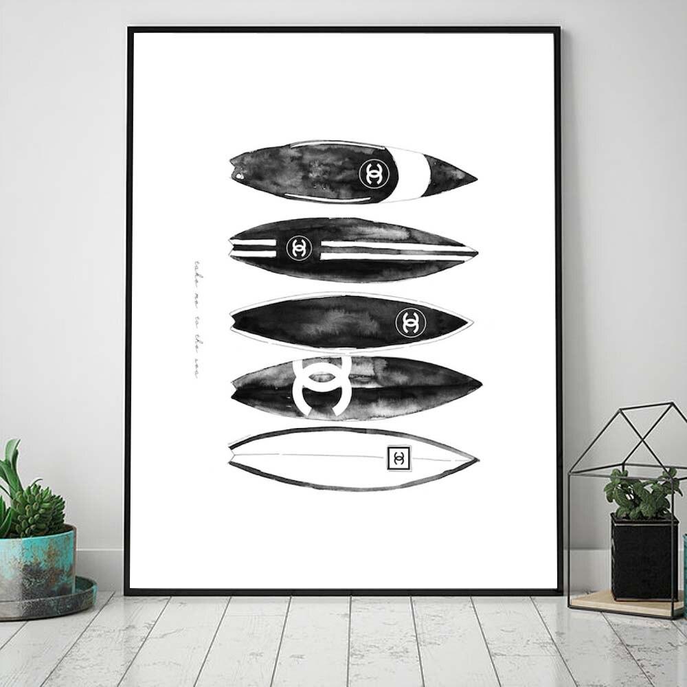 Abstrakte Mode Poster Schwarz Und Weiß Leinwand Malerei Poster Und Drucke Wand Pop Kunst Bild Für Wohnzimmer Dekor Für Hause