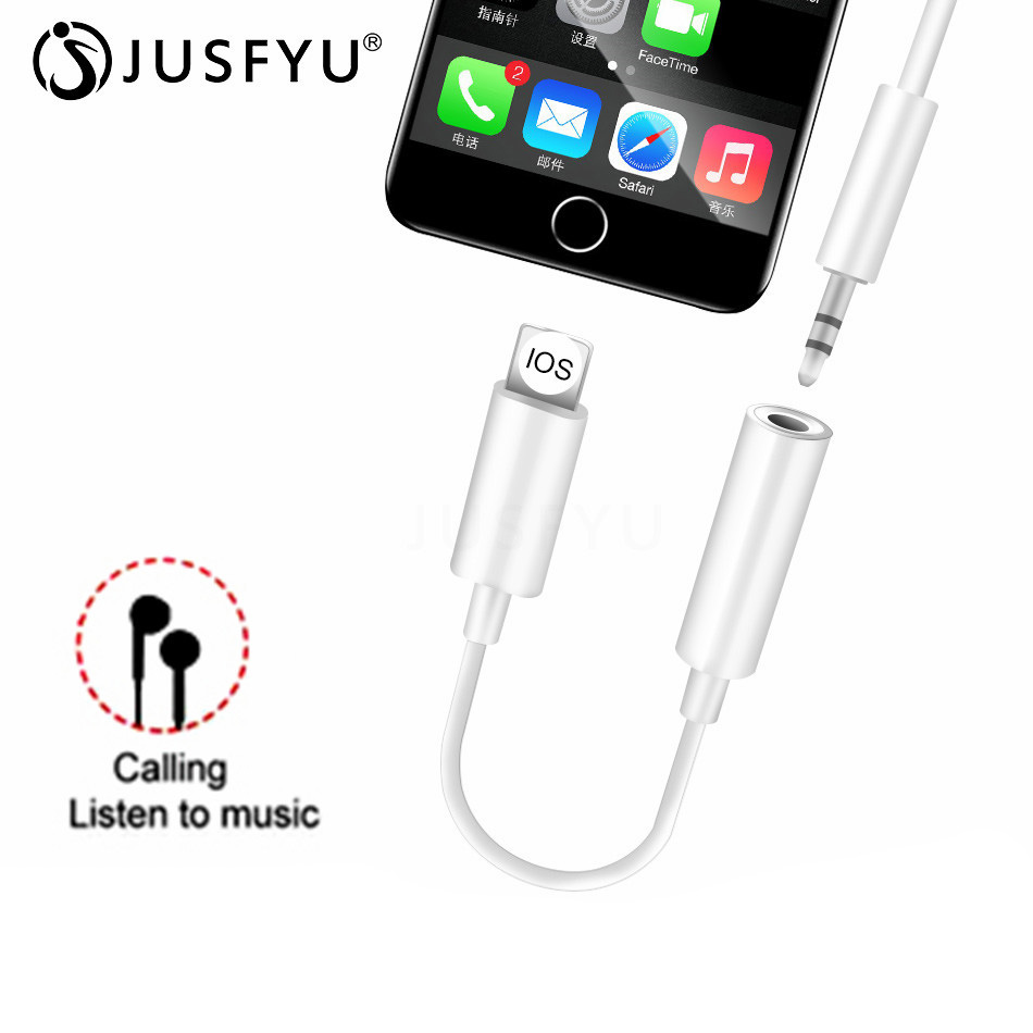 3.5mm Jack Headphone Adapter For Iphone IOS 10.2 For Lighting Plug Play Music Audio Earphone For IPhone Lightning Converter