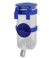 Blue Clear Pet Dog Cat Hamster Hanging Fountain Bottle Water Feeder