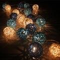 AC220v bola Takraw sepak Pelota de Ratán luces de cadena 3 M 20led lámpara de luz luz de Hadas de la decoración de La Boda fuentes del partido