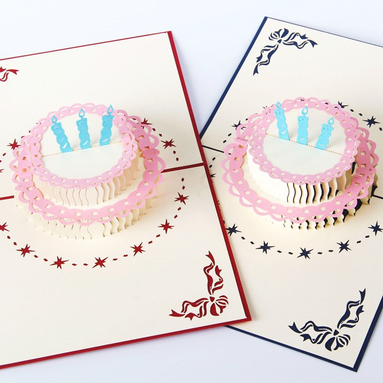 N3d Pop Up Birthday Cake Paper Card Supplies Post Cards Greeting