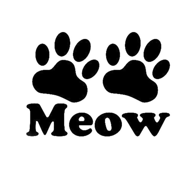 12 3cm9cm meow paw sticker vinyl decal cat print kitty love pet animal car