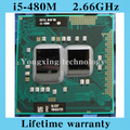 Lifetime warranty Dual Core i5 480M 2.66GHz 480 Notebook processors Laptop CPU PGA 988 Official version  Computer Original