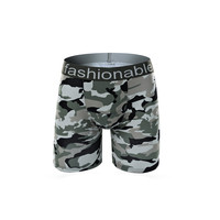 2017 пикантные модные для мужчин камуфляж мягкие дышащие нижнее бельё для девочек шорты боксеры трусы натяжное м ~ размер 3XL лидер продаж
