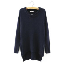 Autumn winter women sweaters pullovers  long sleeve casual crop sweater Loose solid knitted jumpers sweater high qulity