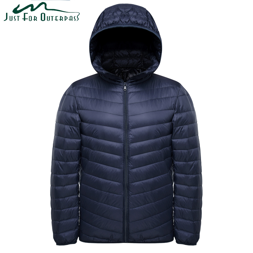 2019 Ultra Light Down Jacket Men Spring Autumn Hooded Waterproof Male Down Coat