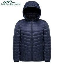 ¡Novedad de 2019! chaqueta ultraligera a la moda para hombre, chaquetas con capucha impermeables para primavera y otoño, abrigo informal de invierno cálido para hombre