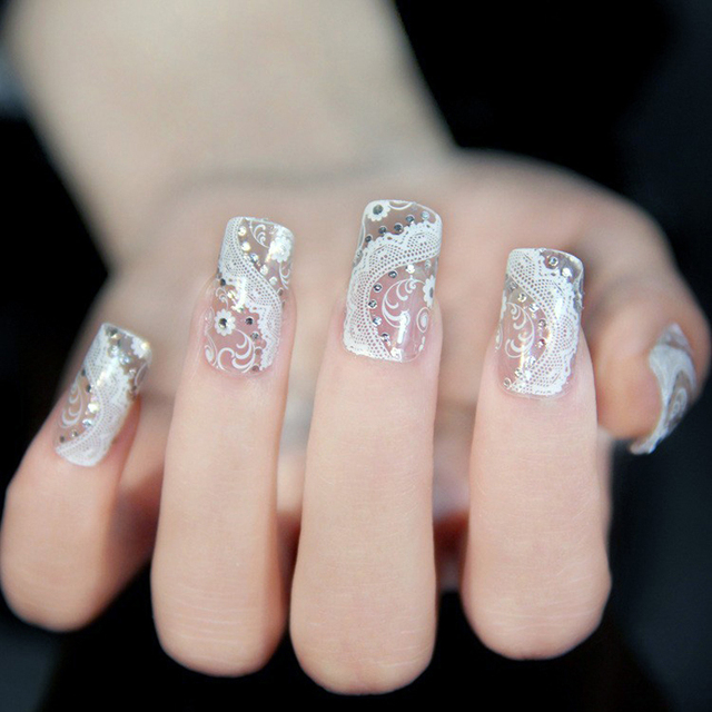 1pcsnail design transparent french manicure nails art stickers for 1pcsnail design transparent french manicure nails art stickers for nails art water decals nail decoration beauty prinsesfo Gallery