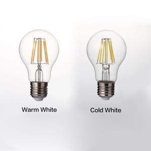 Image 3 - LUCKYLED ريترو LED خيوط ضوء مصباح E27 2 واط 4 واط 6 واط 8 واط A60 خمر اديسون Led لمبة 110 فولت/220 فولت واضح الزجاج قذيفة