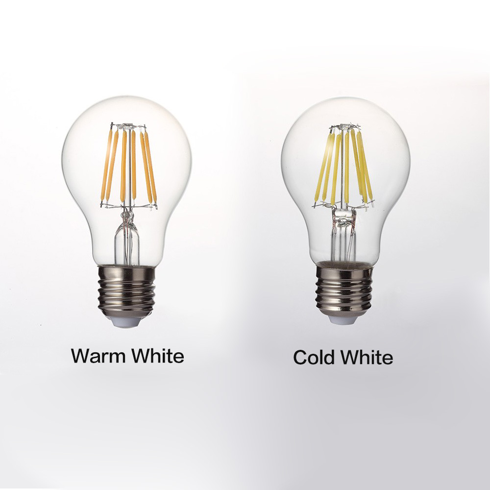 Image 3 - LUCKYLED Retro LED Filament Light Lamp E27 2W 4W 6W 8W A60 Vintage Edison Led bulb 110V / 220V Clear Glass Shell-in LED Bulbs & Tubes from Lights & Lighting
