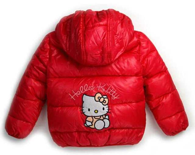 9241345bc Detail Feedback Questions about New Hello Kitty Girls Jacket Kids Winter  Keeping Warm Casual Hooded Coat Children Cartoon Cotton padded jackets  Clothes on ...