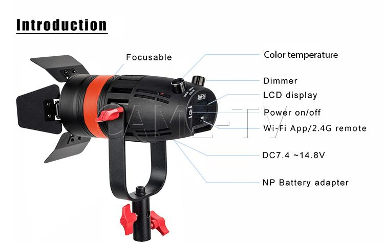 Image 5 - 2 Pcs CAME TV Boltzen 55w Fresnel Focusable LED Bi Color Kit-in Photo Studio Accessories from Consumer Electronics
