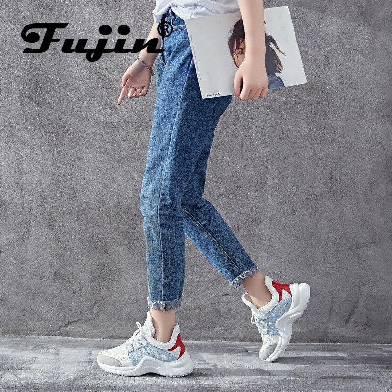 Fujin Shoe Platform Sneaker Vulcanized-Shoes Winter Summer Women Breathable Casual Ladies
