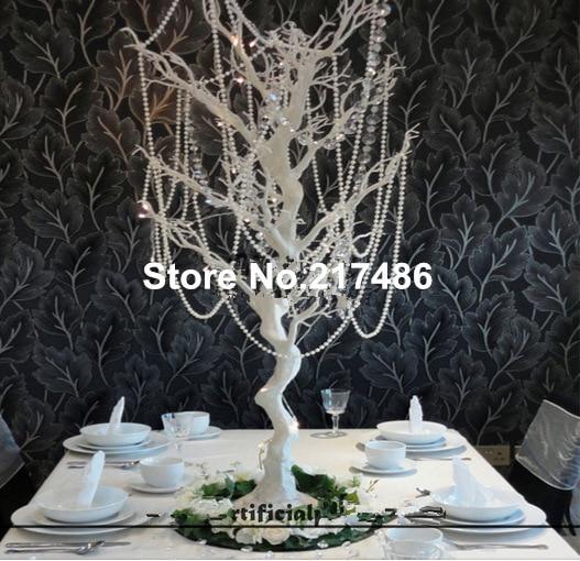No Crystal Bead Por Wedding Decoration Centerpieces Artificial Table Tree