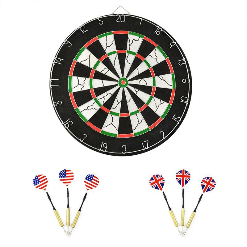 Professional 18-inch Dartboard Dart Board with 6 Darts rowsfir dart board 6 darts set funny play dartboard soft head darts board game toy fun party accessories gambling new year gift