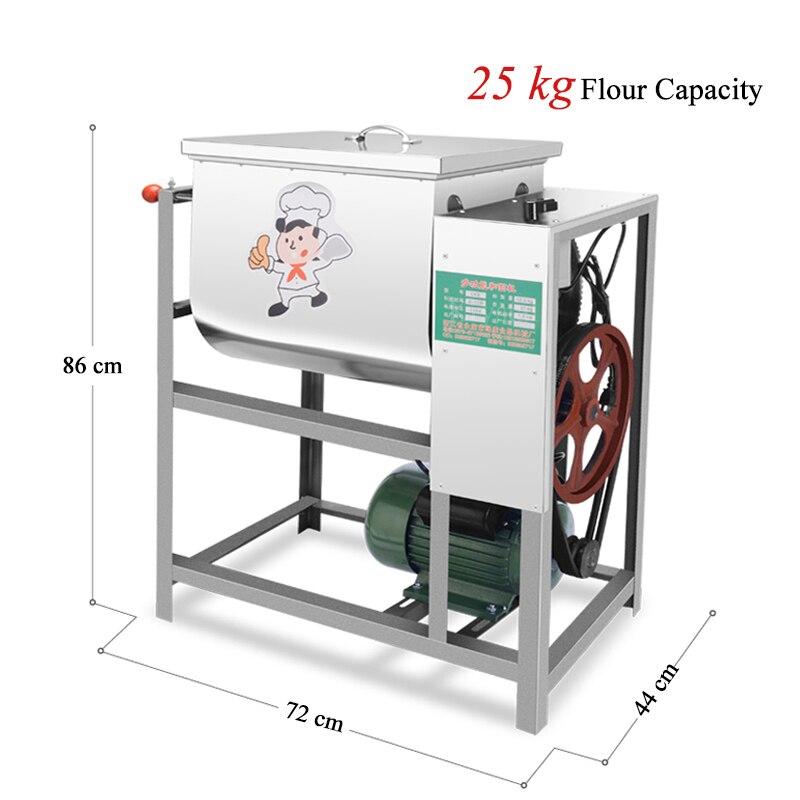 Automatique Pâte Mélangeur 25 kg Capacité Stand Machine De Mélange avec Crochet Pétrisseur, Batteur, bol En Acier inoxydable Mélangeur De Cuisine
