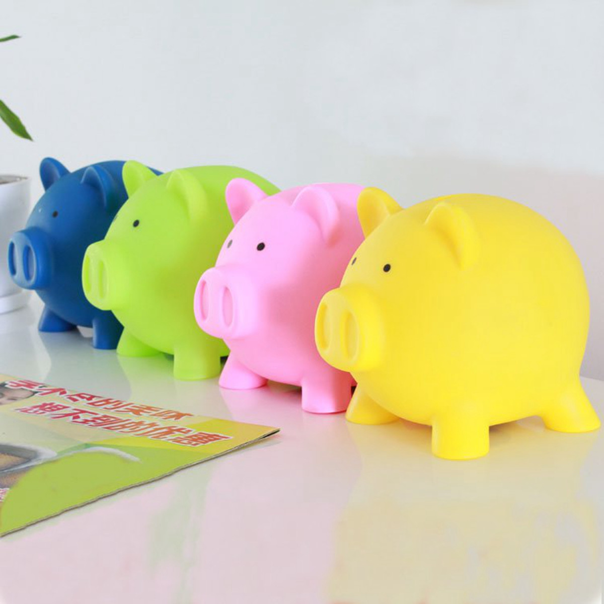 Coin Piggy Bank Toy Piggy Bank Money Pig Toy Saving Cash Coin Box Collection