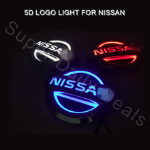 NEW Led Car Emblem Badge Sticker Lamp Rear Lights for Nissan Livina Tiida Geniss Cedric X-trail Red Blue White 5d led logo light