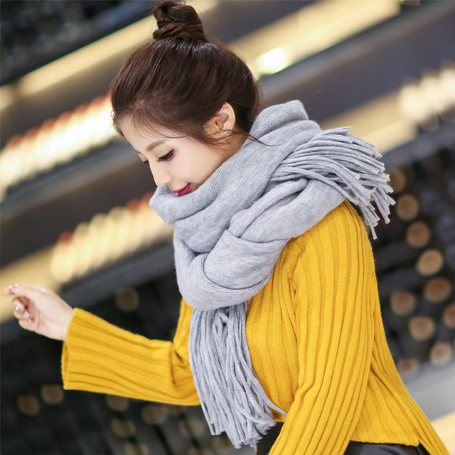 SH059 100% Cashmere Winter Scarf Women and Men Brand Plaid Tassel Scarfs Pashminas Infinity Women Scarves and Shawls Echarp