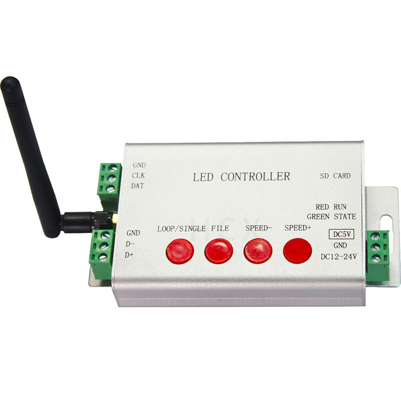 цена на led wifi controller,1 port control 2048 pixels,DMX512 controller,support WS2812,DMX512,etc.Controlled by android phone via WLAN
