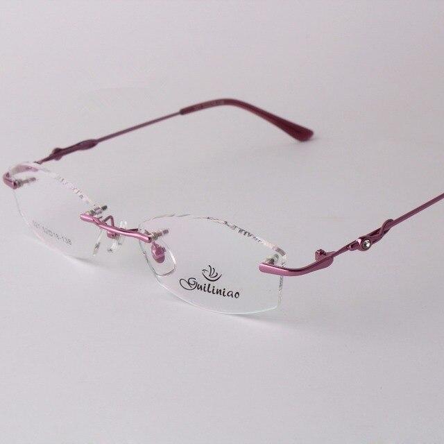 95e6e44e2b8 Chashma 2015 New Classic and Simple Design Eyewear Quality Alloy Rimless Glasses  Women Men Optica Frameless