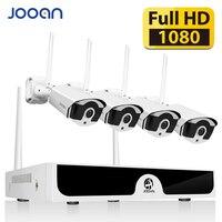 JOOAN видеонаблюдение комплект Беспроводной видеонаблюдения видео наблюдение система камера 4CH H.265 NVR 1080 P камеры уличная wifi камера наружного ...