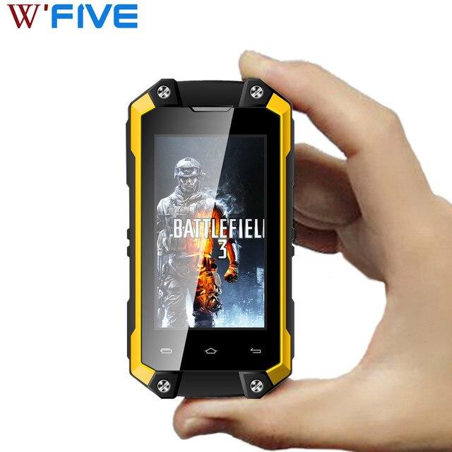 """サーボ J5 プラス 2.45 """"Wqvga 画面ミニ携帯電話 MTK6580 クアッドコア RAM ギガバイト 1 ROM 8 ギガバイトアンドロイド 5.1 IP65 防水 WCDMA 携帯電話"""