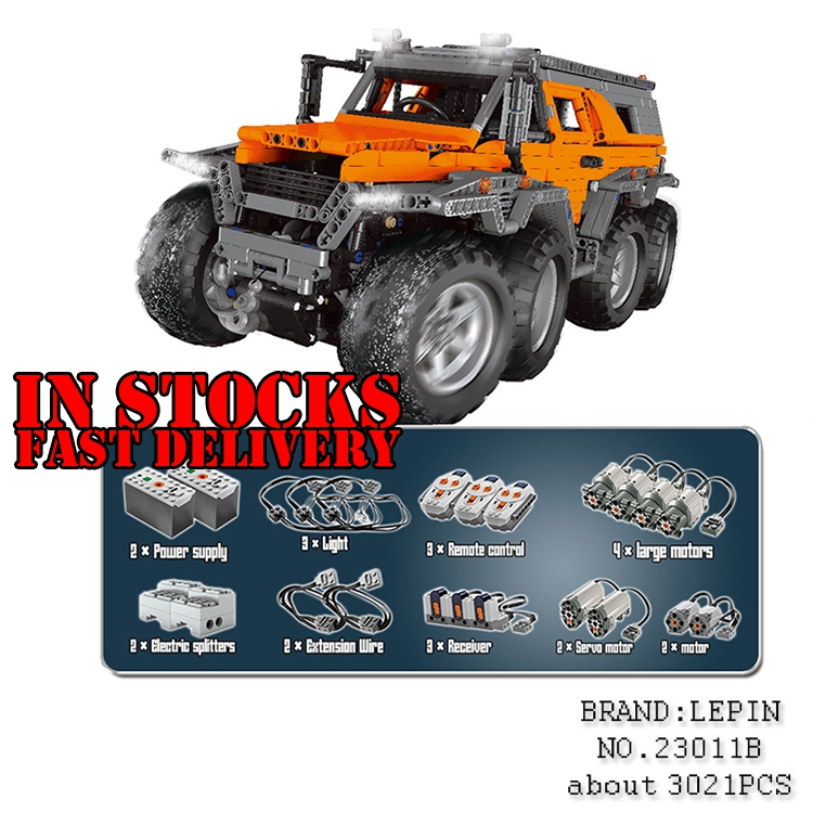 NEW LEPIN 23011B 3021pcs Technic series Off-road vehicle rc car-styling Model Building Blocks Bricks toys for childrenGifts