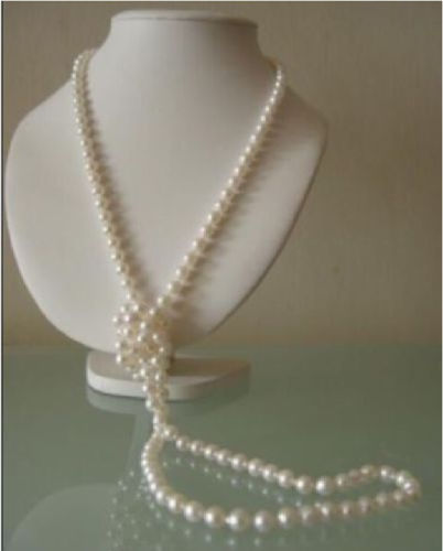 FREE SHIPPING HOT sell new Style >>>> CHARMING 8-9mm NATURAL WHITE SOUTH SEA PEARL NECKLACE 48