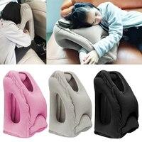 Inflatable Air Travel Pillow Airplane Neck Head Chin Cushion Sleep Office Nap Air Pillows Long Airplane