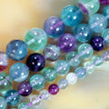 wholesale Natural Stone Beads Colorful Fluorite Round Loose Beads For Jewelry Making 15.5 inches Pick Size 6.8.10.12 mm -F00094