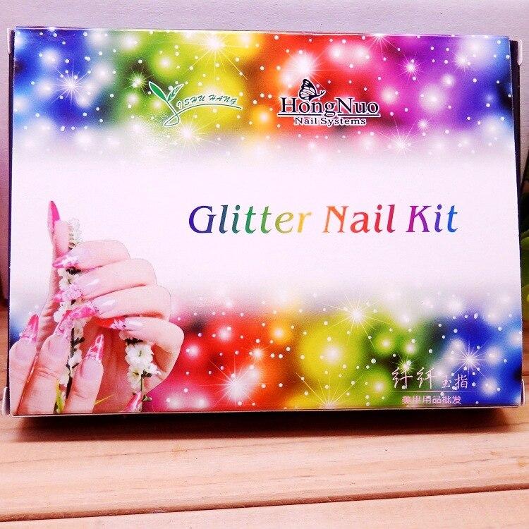 Fashion 12 Bling Metal Glitter Nail Art Аксессуарлар - Маникюр - фото 5