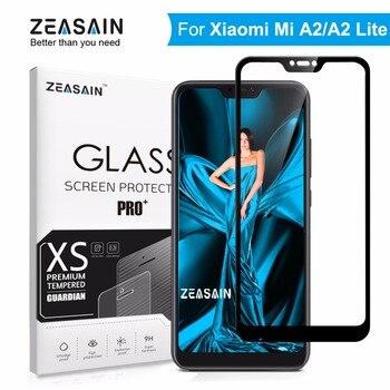 الأصلي ZEASAIN 9 H الزجاج المقسى ل شياو mi mi A2 لايت Xio mi mi A2 لايت واقي للشاشة غطاء كامل تشديد سلامة زجاج عليه طبقة غشاء رقيقة