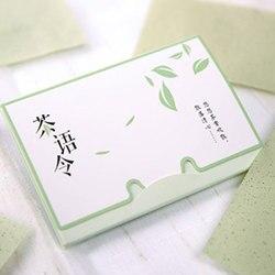 100 листов/Упаковка Бумажных Салфеток зеленый чай запах Макияж очищающее масло Впитывающая Бумага для лица Впитывающее средство для очищени...