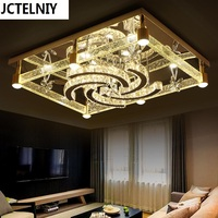 Bubble column crystal lamp led living room lamp rectangle ceiling light modern brief lamps