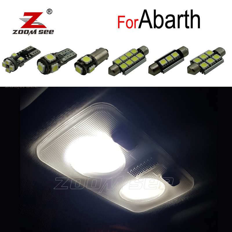 Идеальная фотолампа для внутреннего освещения, комплект купольных ламп для чтения для Abarth 500 595 695 500C 595C 695C Grande Punto EVO Punto