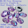 Oval Shape Earth Facets $0.99 100pcs 4x6mm Acrylic Rhinestones Flatback AB Colors Glue On Beads DIY Jewelry Nails Art Supplies