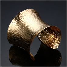 hot deal buy top sale fashion big star style gold plated punk wide big open bangles men women statement bracelets bangles fashion jewelry