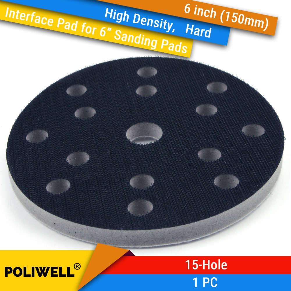 6 Inch(150mm) 15-Hole High Density Hard Sponge Surface Protection Interface Pads For 6