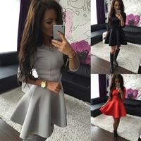 Fashion Women S 3 4 Sleeve Sexy Spring Women Dress Bodycon Ruffles O Neck Office Dresses